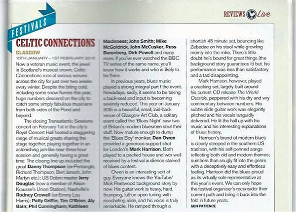 Celtic Connections Review