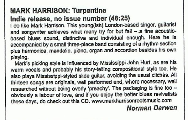 BLUES & RHYTHM MAGAZINE Review