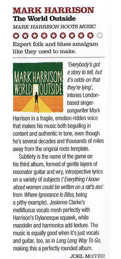 The World Outside THE BLUES MAGAZINE Review