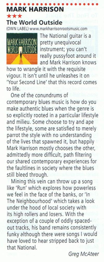 The World Outside R2 Magazine Review